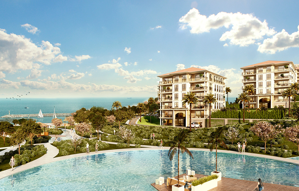 Luxury Marina homes in West European Istanbul